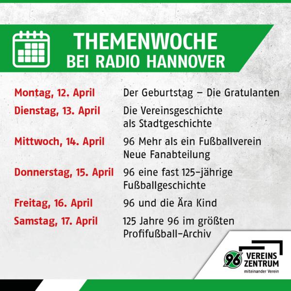 Themenwoche bei Radio Hannover zum Nachhören